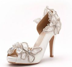 5cm heels Peep toe Wedding Shoes,Bridal Shoes,Lace Wedding Pumps