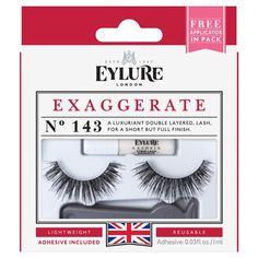 0e07f060a19 Eylure Exaggerate No.143 is a wispy double layered lash with a short but  fully