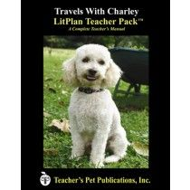 LitPlan Teacher Pack For Travels With Charley--Complete unit of study; open and teach. Includes study questions, vocabulary, daily lessons with assignments & activities, unit tests, writing assignments, review materials...everything you need.
