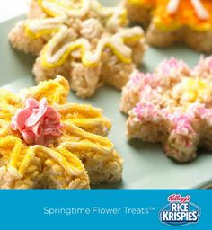 Use a cookie cutter to help your kids turn Rice Krispies Treats™ into a yummy bouquet of spring flowers!