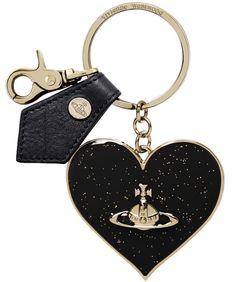 Vivienne Westwood Accessories Gadget Mirror Heart Keyring