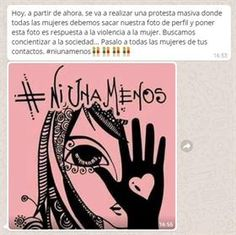 Este fue el mensaje que se hizo viral y planteó como iniciativa hacer ruido en redes sociales poniendo este dibujo de Romina Lerda como foto de perfil