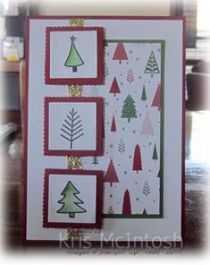 This is the second card I made using Watercolour Christmas. This one uses the Be Merry Designer Series Paper from the Annual Catalogue. I attached the Designer Series paper to Garden Green card a…