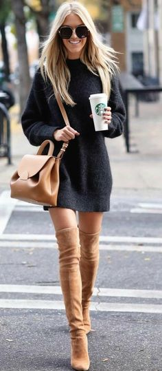 idées inspiration tenues automne-hiver Be Badass II Mode & Lifestyle - idées inspiration tenues automne-hiver Be Badass II Mode & Lifestyle - Cute Summer Outfits, Fall Winter Outfits, Autumn Winter Fashion, Spring Outfits, Dress Winter, Winter Chic, Casual Winter, Winter Wear, Fall Dress Outfits