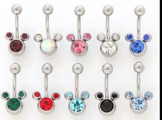 3/8 disney belly button ring | Belly Button Rings
