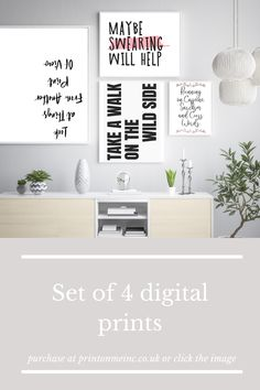 Looking for a motivational wall art to go in your home? These motivational set of 4 gallery wall art prints are the perfect addition to your home decor. They are instant downloads so you can print them straight away, no having to go out to shops, no waiting times, no shipping costs! Awesome!! Click through to shop and find more motivational and inspirational quotes and styles #motivationalwallart #minimalistart #officedecor #instantdownload #inspirationalquotes Motivational Wall Art, Inspirational Wall Art, Wall Art Quotes, Office Ideas For Work, Feminine Office Decor, Colorful Wall Art, Office Wall Art, Decor Ideas, Gift Ideas