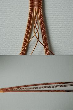 Bracelet wire in a Scandinavian style.  Weave braid of three medium delay.