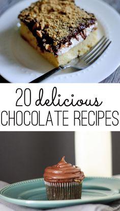 20 yummy chocolate recipes