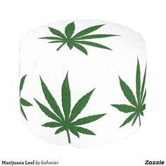 Marijuana Leaf Pouf