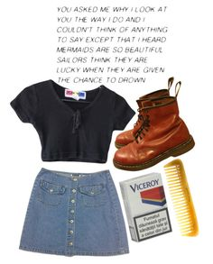 """""""Untitled #272"""" by tater-titties on Polyvore featuring Dr. Martens and Hermès"""