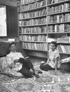 Prince Chumphot and wife in their library 1950