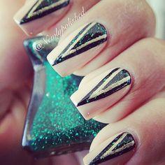 Bold Glitter & Silver Triangles
