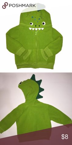 Old Navy Dino Hoodie Green zip-up Dino Hoodie from Old Navy, size 6-12 months. In GUC. Sooo cute!  *bundle and save! Old Navy Shirts & Tops Sweatshirts & Hoodies