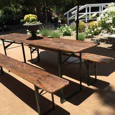 Home Design Ideas. outdoors european biergarten table and bench set ...