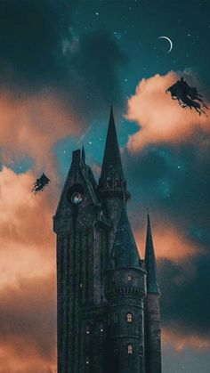 Dementors over Hogwarts Arte Do Harry Potter, Harry Potter Tumblr, Harry Potter Pictures, Harry Potter Universal, Harry Potter Fandom, Harry Potter World, Hogwarts, Slytherin, Illustrations Harry Potter