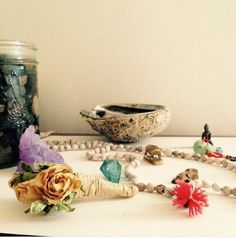 What's on my altar and New Moon Rituals for the Non-Ritually Inclined today on clumsygrace.com