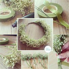 #crown #diy #schleierkraut #wreath