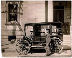 Amerikaanse mobiele bibliotheek 1912.