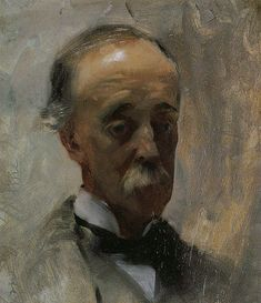 """Dr. FitzWilliam Sargent."" Oil. 1886. This is a portrait of the artist's father."