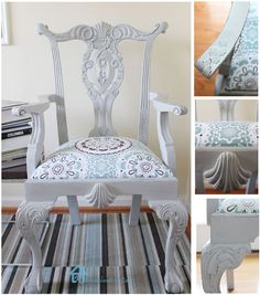 Painted Chippendale chair with ASCP-Paris Grey 5