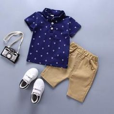 boys clothes set Summer baby cotton Anchor print infant clothing set Navy blue White T shirts Shorts Years 2018 New fashion Boys Summer Outfits, Summer Boy, Toddler Boy Outfits, Toddler Boys, Baby Boys, Kids Boys, Summer Clothes, Casual Clothes, Fall Clothes
