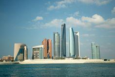 Skyscrapers and skyline of Abu Dhabi in United Arab Emirates, UAE