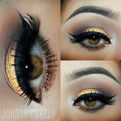 """Stunning work by IG'er: @johnabmakeup Get the look with our new Party Girl Loose Eyeshadow Pigment in """"Looking Good"""": http://bit.ly/1HQ7GuH and our BH Liquid Eyeliner: http://bit.ly/1o15Uw2"""