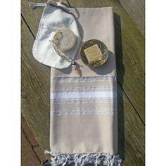 Luksusowy i piękny, bawełnianyz lurexowymi paskami,szybkoschnący ręcznik. 100x170 cm