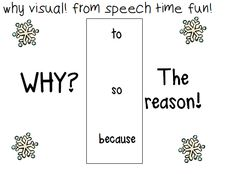 Speech Time Fun: Winter Why Visual FREEBIE! Pinned by SOS Inc. Resources @sostherapy http://pinterest.com/sostherapy.