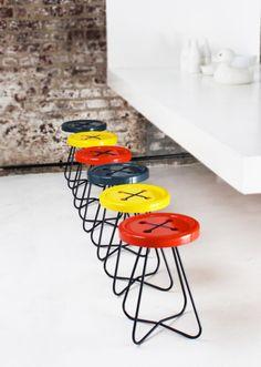 #ButtonArtMuseum.com - CHURCH #button #stool...funny..