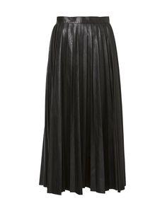 Soft Pleat Midi Skirt