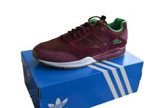 new style 2afeb 9ea74 Adidas Originals Men s Tech Super Trainers Light Maroon G96501