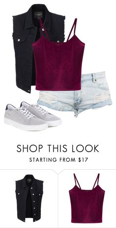 """""""Untitled #473"""" by stephaniasant on Polyvore featuring LE3NO, WithChic and Barbour"""