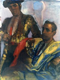 Dos toreros by Gustavo de Maeztu (Spanish 1887-1947)