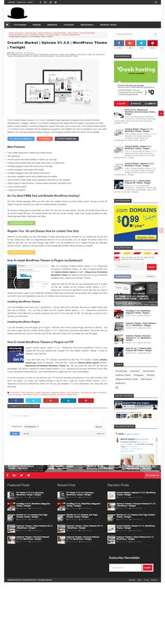 This is Creative Market Uptown v1.3.0. A chic, minimalist mobile responsive Wordpress theme perfect for stylish entrepreneurs + bloggers. Uptown v1.3.0 features a featured posts widget below the header to showcase your latest posts, a custom portfolio, ecommerce integration, unique footer area, and so much more.