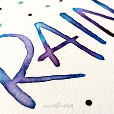 The color drop technique is def one of my favorite watercolor blends  every-tuesday.com/watercolor-lettering
