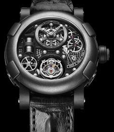 L'horloger suisse indépendant RJ-Romain Jerome vient de présenter une série limitée de 25 pièces de son imposant modèle Tourbillon Steampunk Gunmetal, doté d'un boitier en acier PVD noir et titane de 50 mm et d'un cadran qui rendent hommage à l'ère industrielle ainsi qu'au mouvement artistique...