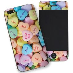 Personalised Love Hearts iPhone 5 Phone Skin from Personalised Gifts Shop - ONLY