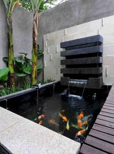 37 Cool Small Fish Pond Design Ideas To Refresh Your Outdoor - For those who have always dreamed of having something fun in their garden, building a fish pond is the way to go. This will be a charming addition, to. Outdoor Fish Ponds, Fish Ponds Backyard, Indoor Pond, Backyard Water Feature, Small Fish Pond, Koi Fish Pond, Indoor Waterfall, Pond Waterfall, Koi Pond Design