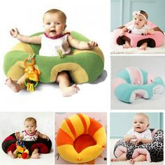 Baby Sofa Seat Cartoon Plush Seat Soft Sofa Removable Sofa Chair Washable Baby Support Seat Plush Toys Cushion for Toddlers Children Kids Infant Green Frog