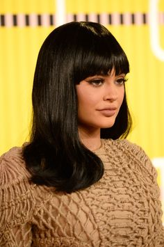 Pin for Later: See 360 Degrees of Hollywood Beauty Hotness at the MTV VMAs Kylie Jenner Kylie is a woman of many hairstyles (or wigs). For the VMAs, she tried on a brunette bombshell look with fringe included.