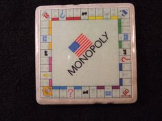 Monopoly Board Drink Coaster by TheCoasterMan on Etsy, $8.00
