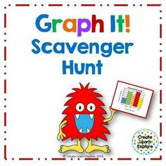 Graph It! Scavenger Hunt- If your students enjoyed the Pictograph Scavenger Hunt then they will have fun with this one!