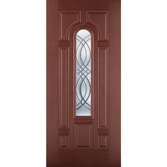 Incroyable Shop Benchmark By Therma Tru 36 In Decorative Mahogany Inswing Entry Door  At Lowes
