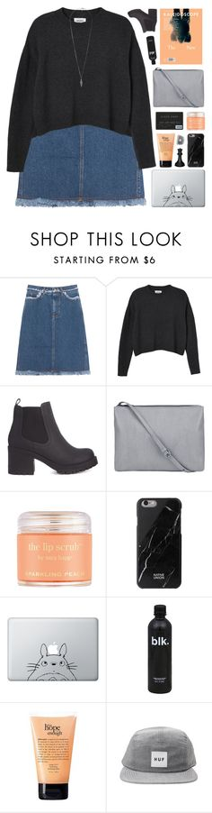 """""""'GET TO KNOW ME'  tag"""" by emmas-fashion-diary ❤ liked on Polyvore featuring Acne Studios, Monki, Sara Happ, Native Union, Humör, philosophy, HUF, Forever 21 and country"""