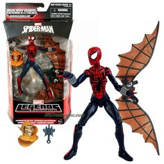 """Hasbro Year 2015 Marvel Legends Infinite Hobgoblin Series 6"""" Tall Action Figure - Warriors of the Web SPIDER-GIRL with Hobgoblin's Head and Wingpack"""
