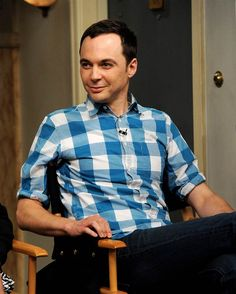 "Actor Jim Parsons appears on the set of ""The Big Bang Theory"" for a dialogue with members of The Academy of Television Arts and Sciences at ..."