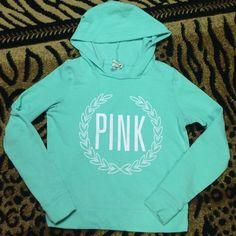 light mint teal pullover hoodie   Victoria's Secret light mint teal pullover hoodie PINK Victoria's Secret Tops Sweatshirts & Hoodies