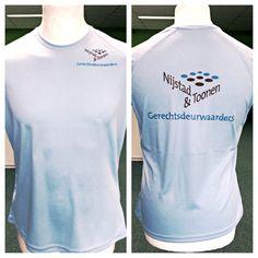 Hardloopshirts aan 2 zijden in PMS kleur bedrukt voor Nijstad & Toonen.