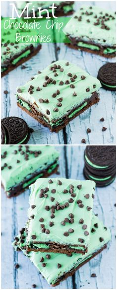 Mint Chocolate Chip Brownies | deliciouslysprinkled.com